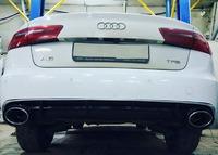 Audi A6 C7 установка диффузора RS6