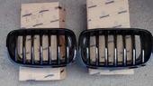 BMW X5 e70 решетки радиатора (ноздри) черные глянец