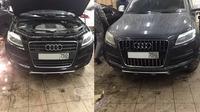 Установили рестайлинговую решетку Audi Q7