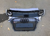 Audi A4 B8 решетка радиатора с диффузором RS4 рестайлинг