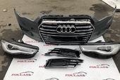 Audi A6 C7 передний бампер с фарами рестайл