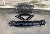 Audi A6 C7 решетки в бампер с диффузором RS6 11-14 г.в.