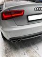 Audi A6 C7 установка заднего диффузора S-Line с насадками