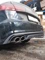 Audi A6C7 установка заднего диффузора в стиле S6