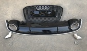 Audi A7 Решетка радиатора с диффузором RS7 рестайлинг