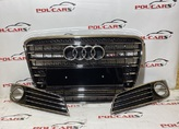Audi A8 D4 Решетки переднего бампера в стиле W12  дорест