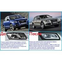 Audi Q5 рестайлинговый комплект оптики