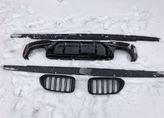 BMW G30 лезвия+ноздри+диффузор m5 look