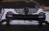 Mercedes GLE W166 диффузор + решетка AMG