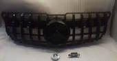 Mercedes GLK X204 решетка радиатора черная AMG GT дорест