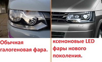 Volkswagen Multivan T5 LED оптика 2009-